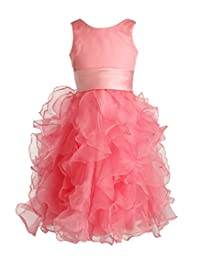 FAIRY COUPLE Girl's Satin Tulle Sleeveless Communion Pageant Dress Flower K0145