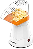 Electric Hot Air Popcorn Maker for Home Movie Theater, Low Fat Popcorn Machine, Popcorn Popper Without Oil For...