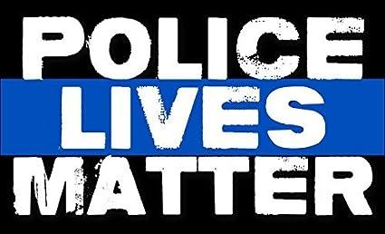 Policía vidas Cuestión adhesivo (Bumper Pro Cop delgada línea azul): Amazon.es: Coche y moto