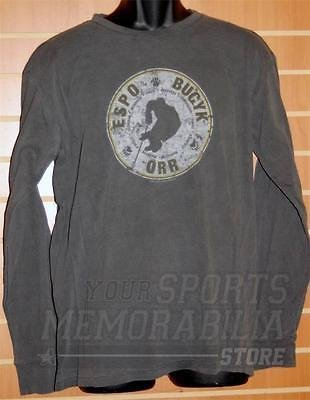 Espo, Bucyk, and Orr Boston Bruins 1972 Classic Roster Long Sleeve T-Shirt - Size S ()