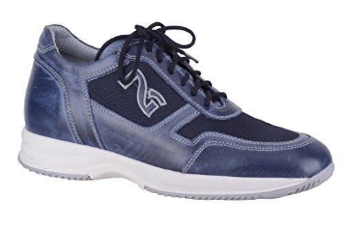 Nero Giardini - Zapatillas de Piel para hombre azul turquesa 45 turquesa