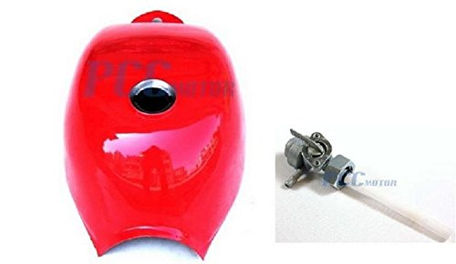 4L Gas Tank Fuel Petcock Honda Z50 Mini Trail 50 50R Z Monkey Bike RED Color GT23 PCC