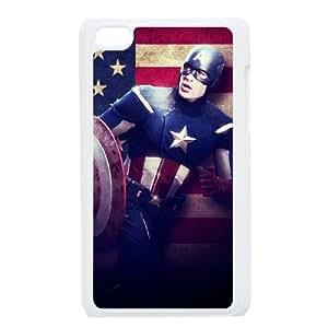 iPod Touch 4 Phone Cases White Captain America CBE009927