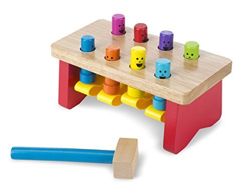Melissa & Doug Deluxe Pounding Bench + Deluxe Latches Board Bundle