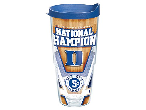 Duke Blue Devils NCAA 2015 National Champions 24 oz Tumbler with Lid