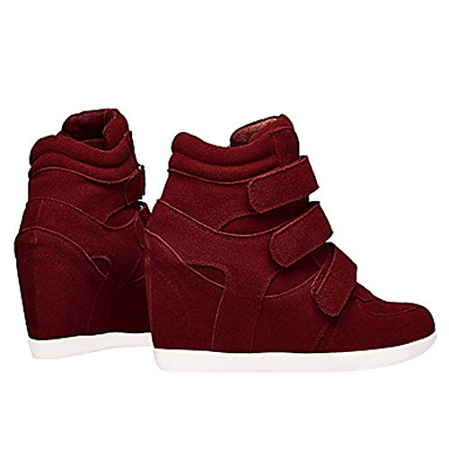 Blu UK7 Wine Comoda Stivali Marrone Sneakers Per Primavera EU40 US9 Zeppa CN41 Vino TTSHOES Nappa Scarpe Donna qx1HpSxv