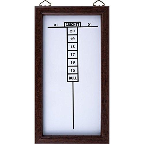 Wood Frame Dry Erase Cricket Dart Scoreboard - Includes Bonus 6 Steel Tip Darts! by TMG