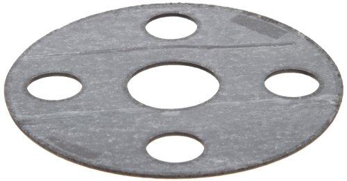 Carbon/Buna-N Flange Gasket, Full Face, Black, Fits Class 150 Flange, 1/16