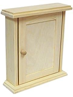 Wooden Key House Cabinet Cupboard Rack Holder Storage Box Wall Plain  Decoupage Craft (Type 1