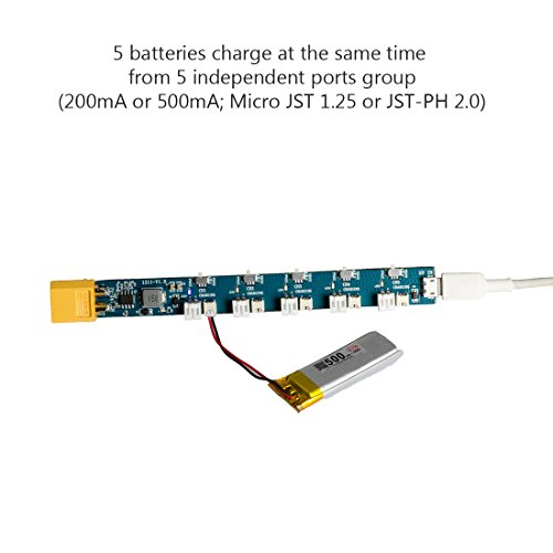 AKK 1S LiPo LiHV Battery Charge Board Micro JST 1.25 and JST-PH 2.0