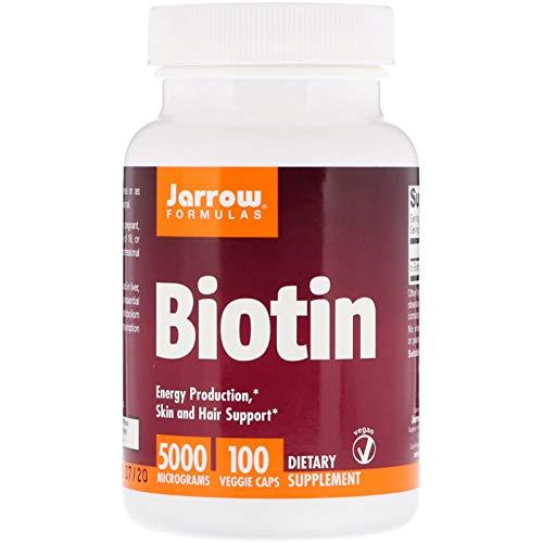 Jarrow Formulas, Biotin, 5,000 mcg, 100 Veggie Capsules