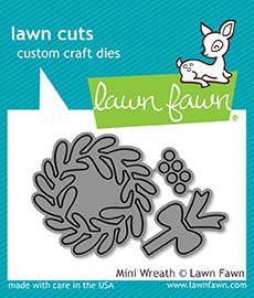LAWN FAWN Cuts Custom Craft Dies: Mini Wreath (LF1496)