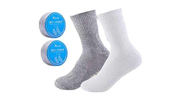 New Disposable Compression Mesh SocksTravel Outdoor Movement Tourism Portable