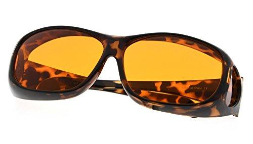 Blue Light Blocking Computer Glasses Fit Over Prescription Eyeglasses Tortoise Frame by Computer Glasses