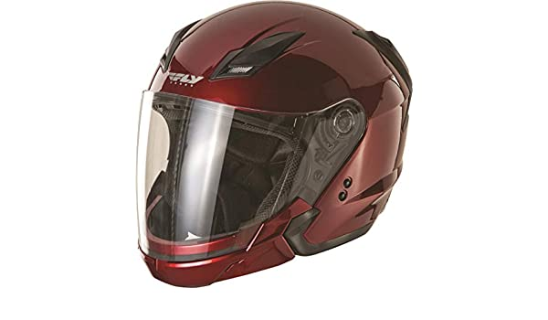 Fly Racing Tourist Solid Open Face Helmet Candy Red F73-8105~5 XL