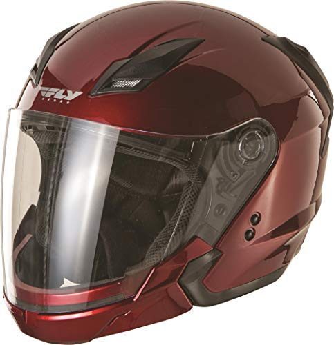 Red Candy Helmet Modular - Fly Racing Tourist Solid Helmet Candy Red (Red, XX-Large)