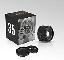 Black APS-C Digitial SLR Camera A6500 A6000 A6100 A6300 A7III A9 NEX 3 3N 5 NEX 5T NEX 5R NEX 6 7 A6400 A5000 A5100 Kaxinda 35mm F1.6 Mirrorless Lens Fixed Lens for Sony E Mount Cameras