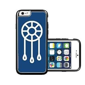 RCGrafix Brand Dream-Catcher Dark Blue plain white iPhone 6 Case - Fits NEW Apple iPhone 6 by lolosakes