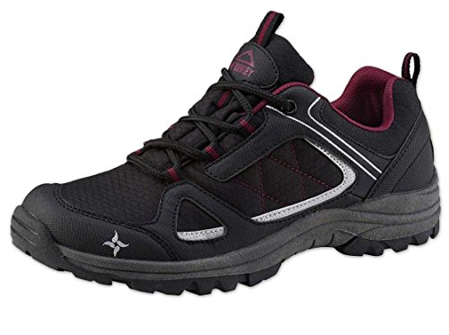 McKinley Chaussures de Multi Maine AQB W – Black/Red/Wine