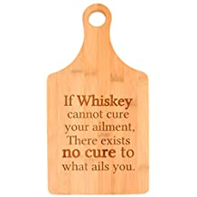 Drinking Gifts Whiskey Cannot Cure Exists No Cure Whiskey Lovers Paddle Shaped Bamboo Cutting Board