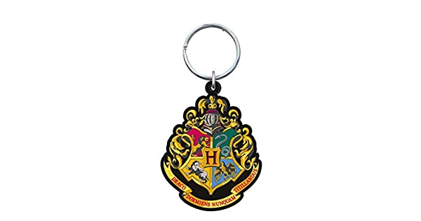 Amazon.com: Harry Potter – Hogwarts School Crest – Llavero ...