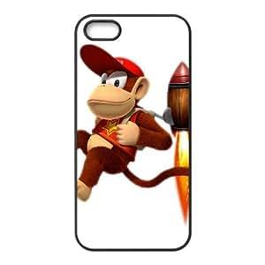 Diddy Kong funda iPhone 4 4s caja funda del teléfono celular del teléfono celular negro cubierta de la caja funda EEECBCAAB13681