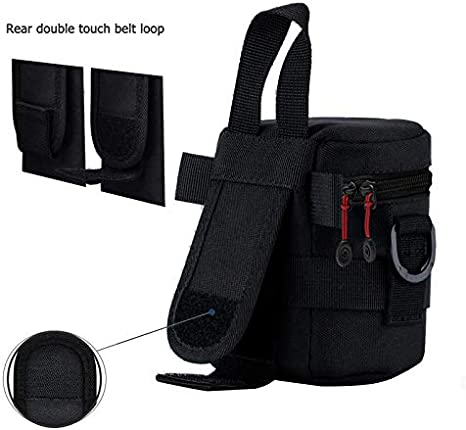 Vivitar Premium Lens Case 4.5 Inch and 8 Inch Waterproof Well Padded Zippered DSLR Camera Lens Case Protector Bag Set with Belt Loop Neck and Shoulder Strap
