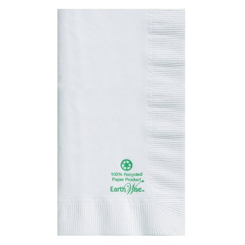 Hoffmaster 084250 Earth Wise Recycled Paper Dinner Napkin, 2-Ply, 1/8 Fold, 17