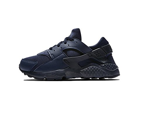 Nike Huarache Run Obsidian/Obsidian-Obsidian (Little Kid) (12 M US Little Kid) by NIKE