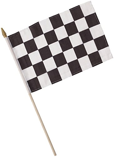 Creative Converting 12 Count Cloth Flag, 8 x 12'', Black/White - 040202 by Creative Converting