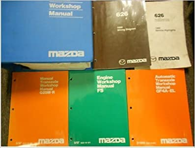 1999 mazda 626 service repair shop manual huge set factory oem books 99  (service manual, the electrical wiring diagram manual, the fs engine  workshop manual