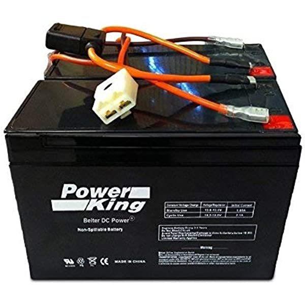 [DIAGRAM_1JK]  Amazon.com: Razor Scooter Battery 12 Volt 7Ah Electric Scooter Replacement  Batteries Brand High Performance - Set of 2 Includes New Wiring Harness  (Replaces 6-DW-7) Beiter DC Power: Home Audio & Theater | 12 Volt Battery Wiring Harnesses |  | Amazon.com