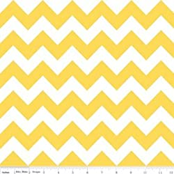 Chevron Stripe Yellow Flannel Fabric SKU F320-50 Riley Blake Designs