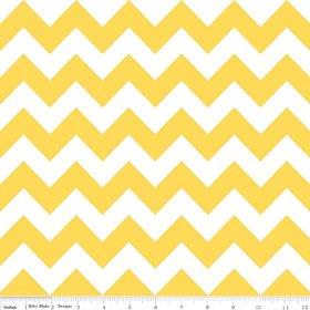 Chevron Stripe Yellow Flannel Fabric SKU F320-50 Riley Blake Designs