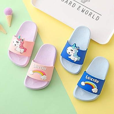 Chaussons Mules Enfants Pantoufles de Bain Pantoufles Maison d/ét/é Sandales Femmes Plates Fille Gar/çon Chaussures pour Piscine Antid/érapant