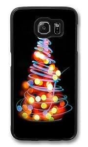 Glowing Lights Christmas Tree Illustration Custom Samsung Galaxy S6/Samsung S6 Case Cover Polycarbonate Black Kimberly Kurzendoerfer