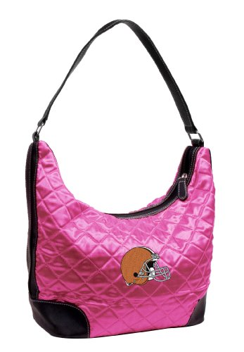 Little Earth Cleveland Browns Pink Quilted Hobo Purse