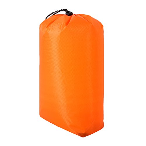MonkeyJack Waterproof Drawstring Storage Bag Outdoor Travel Gear Sports Gym Yoga Bag Laundry Shoe Bag Holder S M L XL 3 Colors - Orange, S