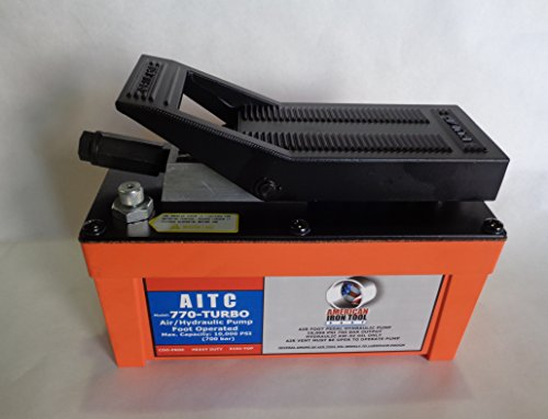 AUTO BODY HEAVY DUTY AIR FOOT PEDAL HYDRAULIC PUMP FOR FRAME MACHINE 10,000 PSI by AMERICAN IRON TOOL CORP.