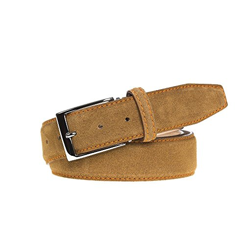 Toast Suede Leather Belt by Roger Ximenez: Bespoke Maker of Fine Leather Goods