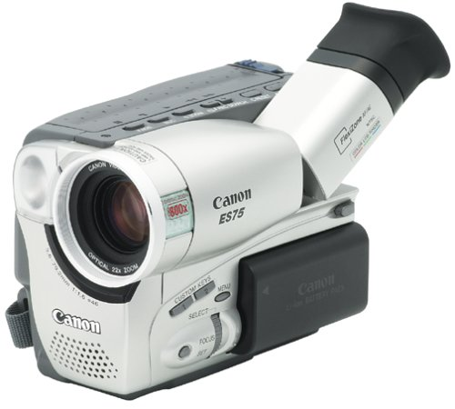 Canon ES75 Hi8 Camcorder with Color Viewfinder