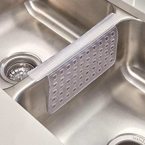 Kitchen Grips: Mat Protector Double Sink Divider Clear Kitchen Dish Safe
