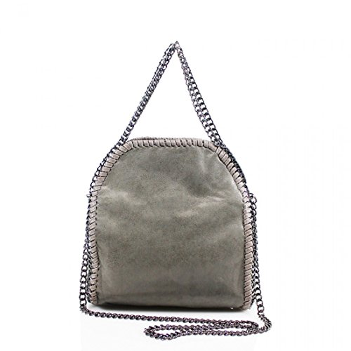Mini Grey New Work Womens YDezire® Shoulder Design Handbag Detail Ladies Tote Bag Chain Small Oq75f7xB
