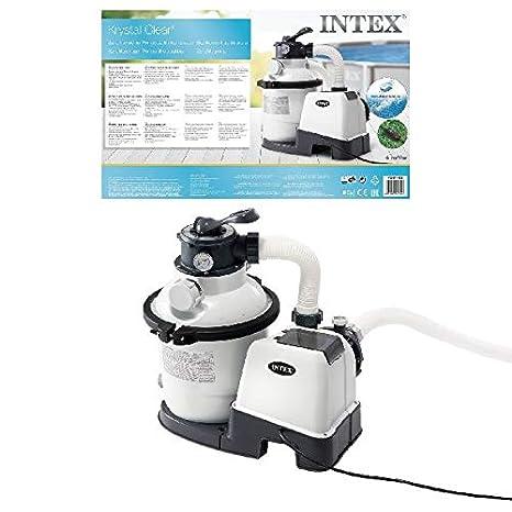 220-240V Intex Krystal Clear Sand Filter Pump Sandfilteranlage W//RCD 7,9 m/³ Poolreinigung