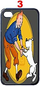 SUUER Rubber Silicone Custom Cartoon Tintin and Snowy background Designer Personalized Custom Plastic Rubber Tpu CASE for iPhone 5 5s Durable Case Cover