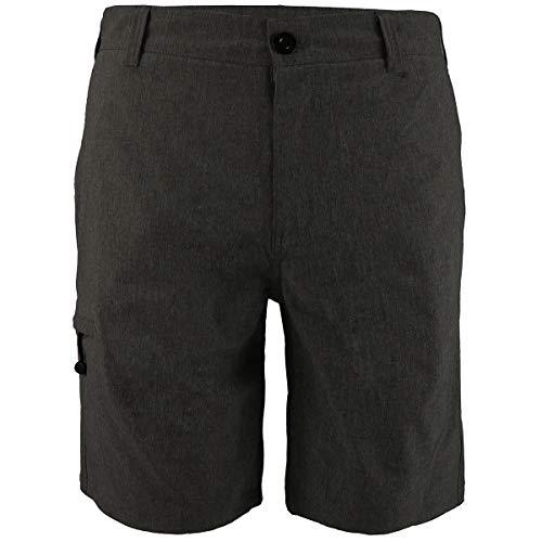 Eurogarment Mens Waterproof Amphibian Workout Shorts Casual Athletic Golf Short Pants (Black, 34)