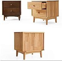 Amazon.com: ZZHF Mesita de noche de madera maciza pequeño ...
