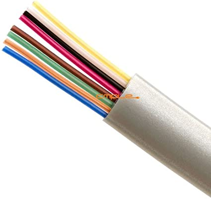 6Ft RJ45 8P8C Flat Modular Telephone /& Data Communications Satin Cable