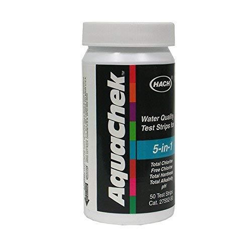 AquaChek 5 In 1 Water Tester Test Chlorine, Hardness, pH & Alkalinity by Hach