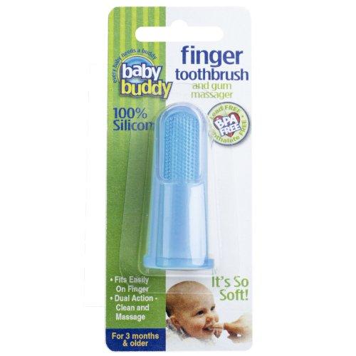 Bébé amis silicone Finger Brosse à dents, Bleu
